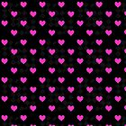 Hot Pink Hearts and Diamond Pattern by ArtVixen