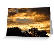 Sask. Summer Skies,God's Glory Shines Through Greeting Card