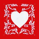 Valentine Heart Red by Donna Huntriss