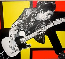 Picture i painted of Keith Richards by MORNINGlory