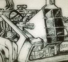 Delorean time machine drawing Sticker