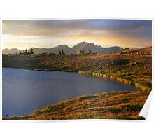 Cottonwood Pass sunset Poster