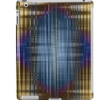 Blue on brown color waves iPad Case/Skin