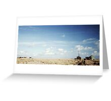 Big Sky at Dungeness Greeting Card