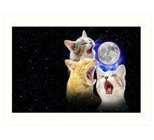 Exclusive Three Cat Moon Design! Art Print