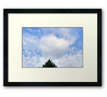 Valentine's Heart Cloud Framed Print