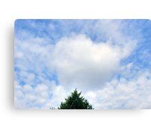 Valentine's Heart Cloud Canvas Print
