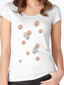 A Handy Collaboration  Women's Fitted Scoop T-Shirt
