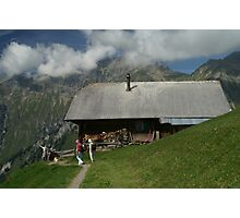 chalet with view Photographic Print