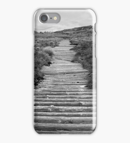 Board walk on the back of a buffalo iPhone Case/Skin