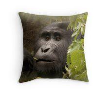 kanyonyi the gorilla Throw Pillow