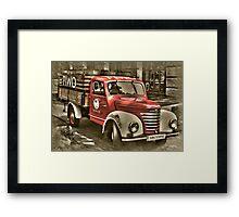 old red truck , krakow Framed Print