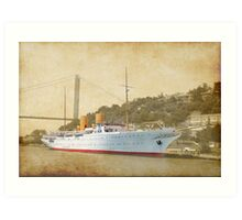 the old liner Art Print