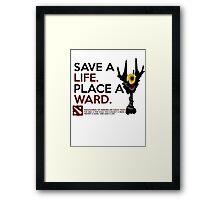 DotA 2 Art of Ward Framed Print