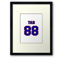 National football player Tab Perry jersey 88 Framed Print