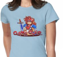 Popful Mail (Sega CD) Game Over Shirt Womens Fitted T-Shirt