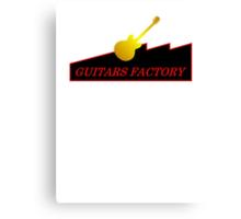 Guitars Factory Canvas Print