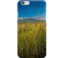 Grasslands of the Big Island in vintage look. iPhone Case/Skin