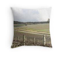 """Vineyards before Birdwood"" Throw Pillow"