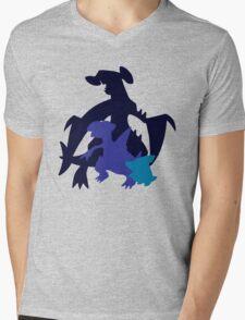 Gible Gabite Garchomp Mens V-Neck T-Shirt