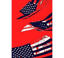 Dynamic Pop Painting of a waving American Flag Photographic Print