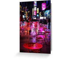 Rainy Night in Times Square Greeting Card