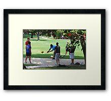 College Games Framed Print