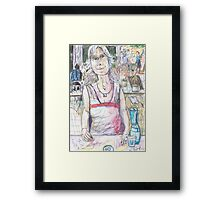 Gail at Llankelly Place Framed Print