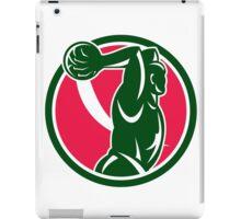 Basketball Player Dunk Ball Circle Retro iPad Case/Skin