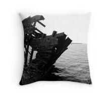 The Boat Skeleton Throw Pillow