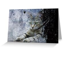 The Painter's Cat Greeting Card