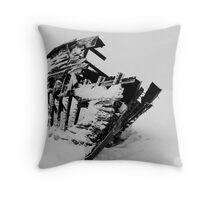 Frozen Boat Skeleton Throw Pillow