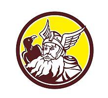 Norse God Odin Raven Circle by patrimonio