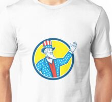 Uncle Sam American Hand Up Circle Retro Unisex T-Shirt
