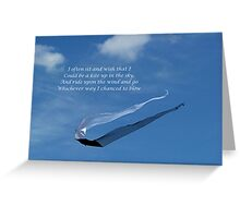 Let's Go Fly A Kite Greeting Card
