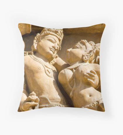 The Lovers Khajuraho Throw Pillow