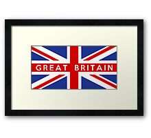 flag of United Kingdom Framed Print