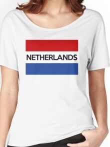 flag of netherlands Women's Relaxed Fit T-Shirt