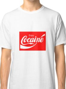 Enjoy Cocaine (Red Print on White Tshirt) Classic T-Shirt