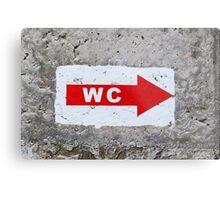 """sign """"WC"""" on the rough concrete wall Metal Print"""