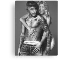 Justin Bieber Calvin Klein Parody - Obama and Cosby Canvas Print