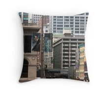 Summer Afternoon in the City Throw Pillow