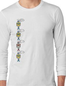 Robots Having a Bad Day Long Sleeve T-Shirt