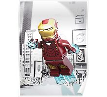 Lego Iron Man Poster