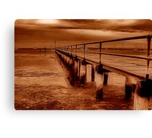 """""""Griffins Gully Jetty"""" Canvas Print"""