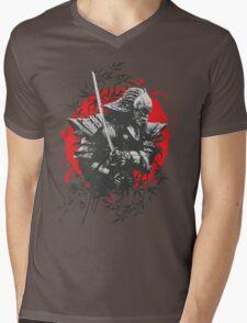 Black Samurai Mens V-Neck T-Shirt