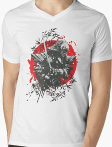 Black Samurai Mens V-Neck T-Shirt