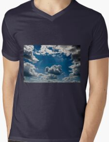 relief  beautiful clouds in during the late evening Mens V-Neck T-Shirt