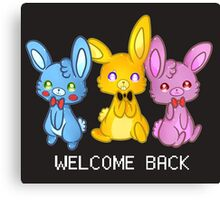 Five Nights At Freddy's 3 Welcome Back Canvas Print