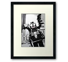 Lego Venom in the city Framed Print